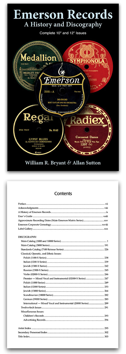 Emerson Records: A History and Discography (Bryant & Sutton)