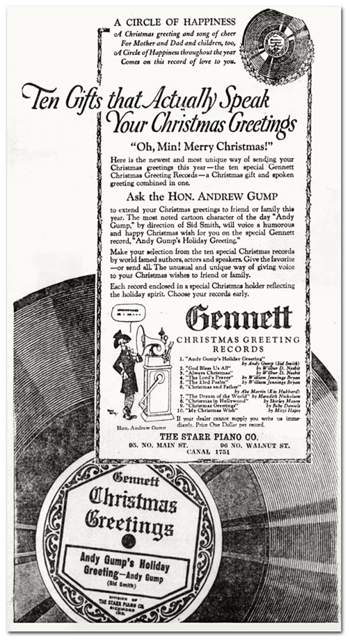 More gennett odds and ends the wolverines give a concert 1924 more gennett odds and ends the wolverines give a concert 1924 christmas greetings ad 1923 m4hsunfo